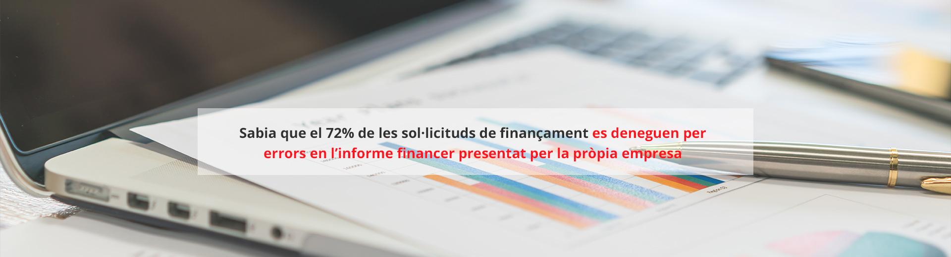 Sol·licitud de finançament - Informe financer
